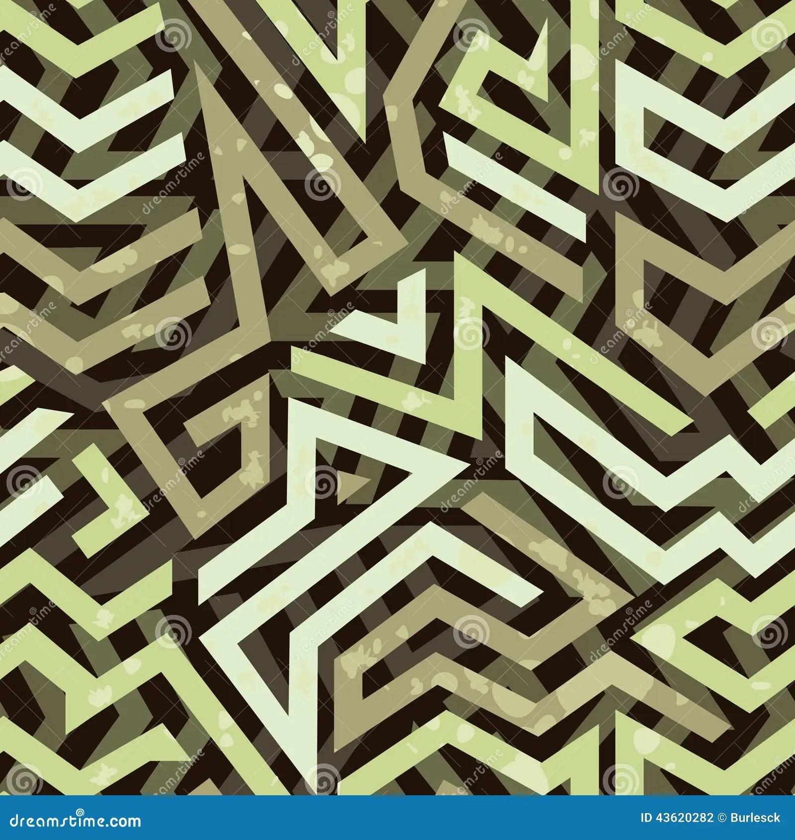 Graffiti Grunge Geometric Seamless Pattern Stock Vector