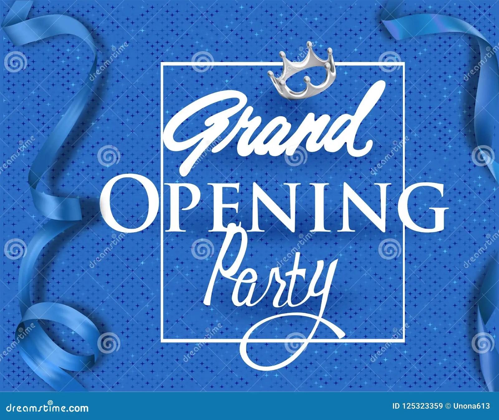 https www dreamstime com grand opening invitation card blue elegant ribbons background grand opening invitation card blue elegant ribbons image125323359