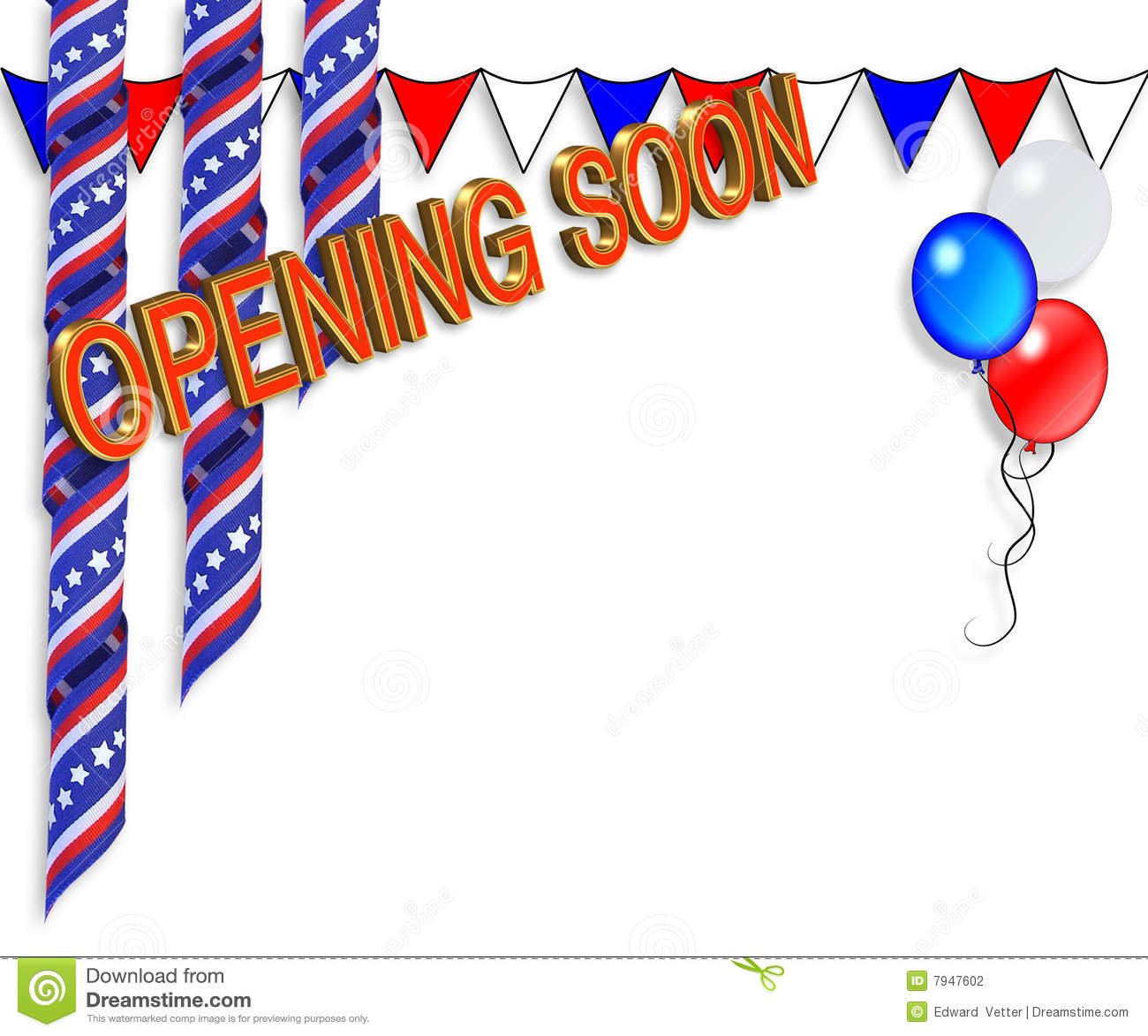 Grand Opening Soon Border Stock Photography Image 7947602