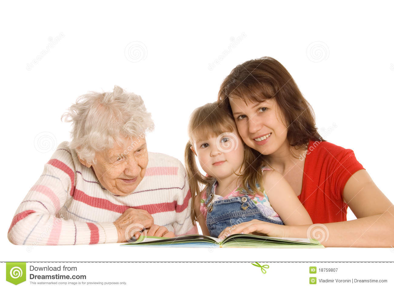 Grandmother With Granddaughter Read The Book Stock Image
