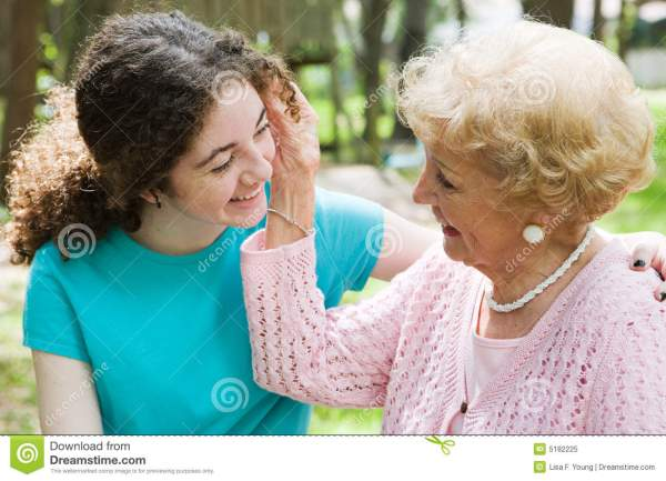 Grandmothers Love stock image. Image of love, mother ...