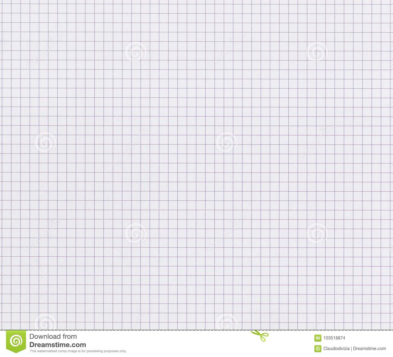 Graph Paper Background For School Stock Photo
