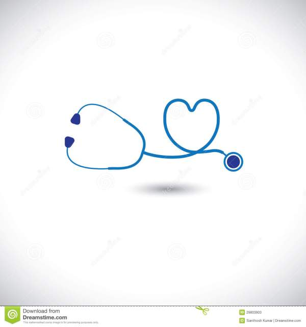 Graphic Of Medical Diagnostic Tool- Stethoscope An Stock ...