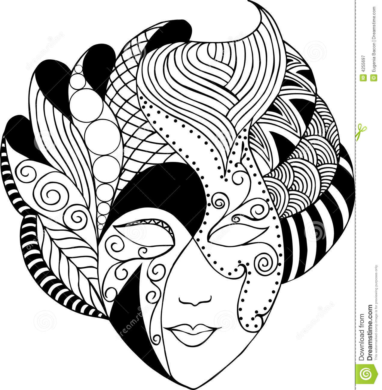 Graphic Vector Mask Royalty Free Stock Photography