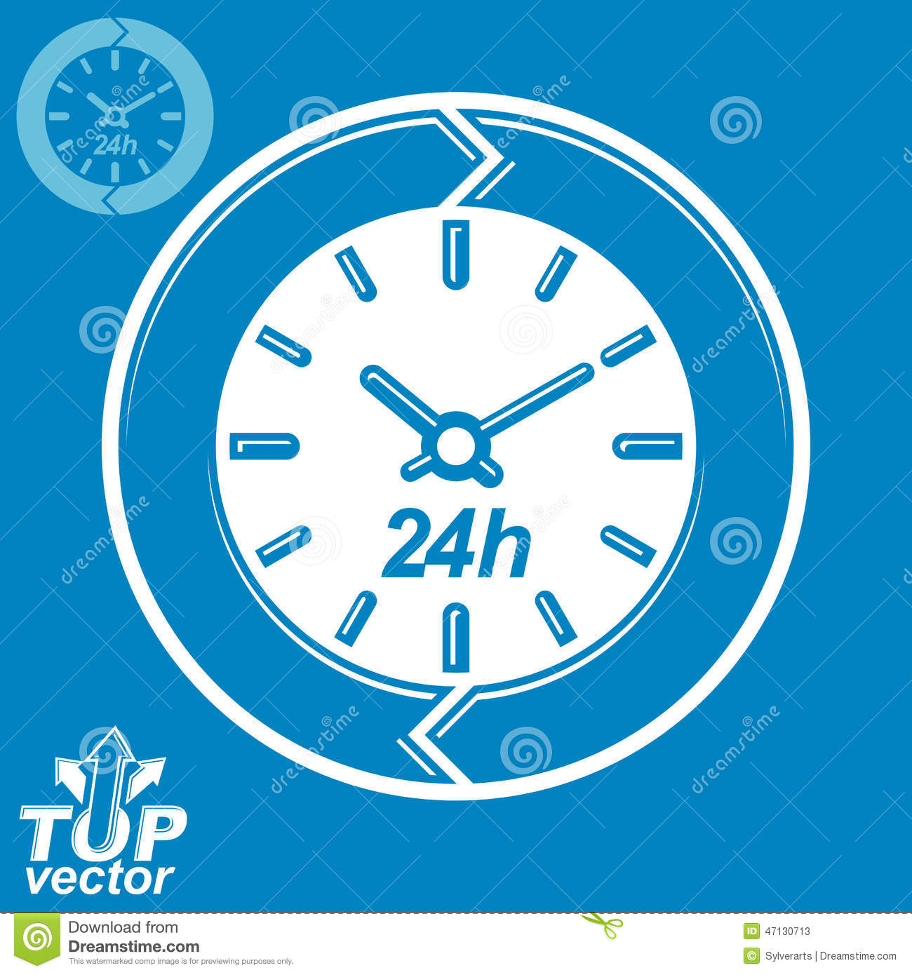 Graphic Web Vector 24 Hours Timer Around The Clock Flat