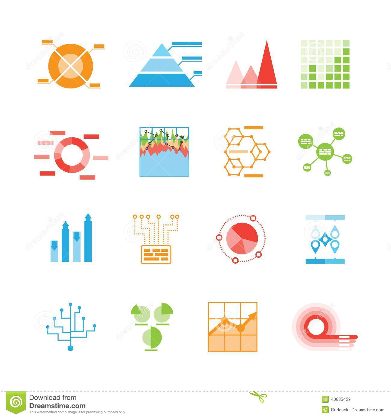 Graphs And Charts Icons Or Infographic Elements Stock