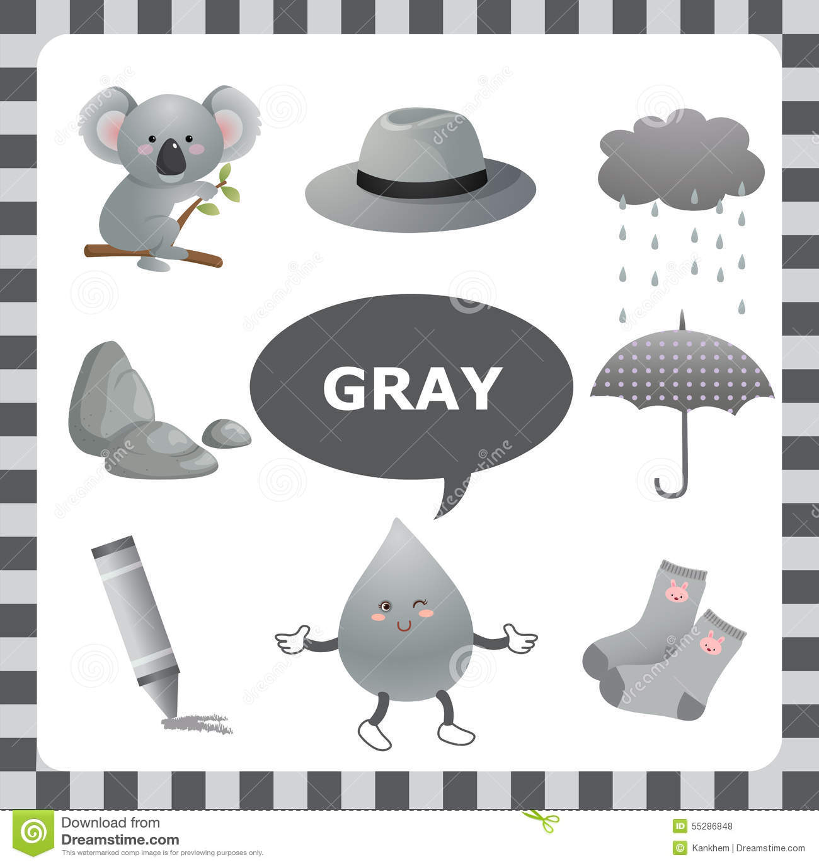 Gray Color Stock Vector