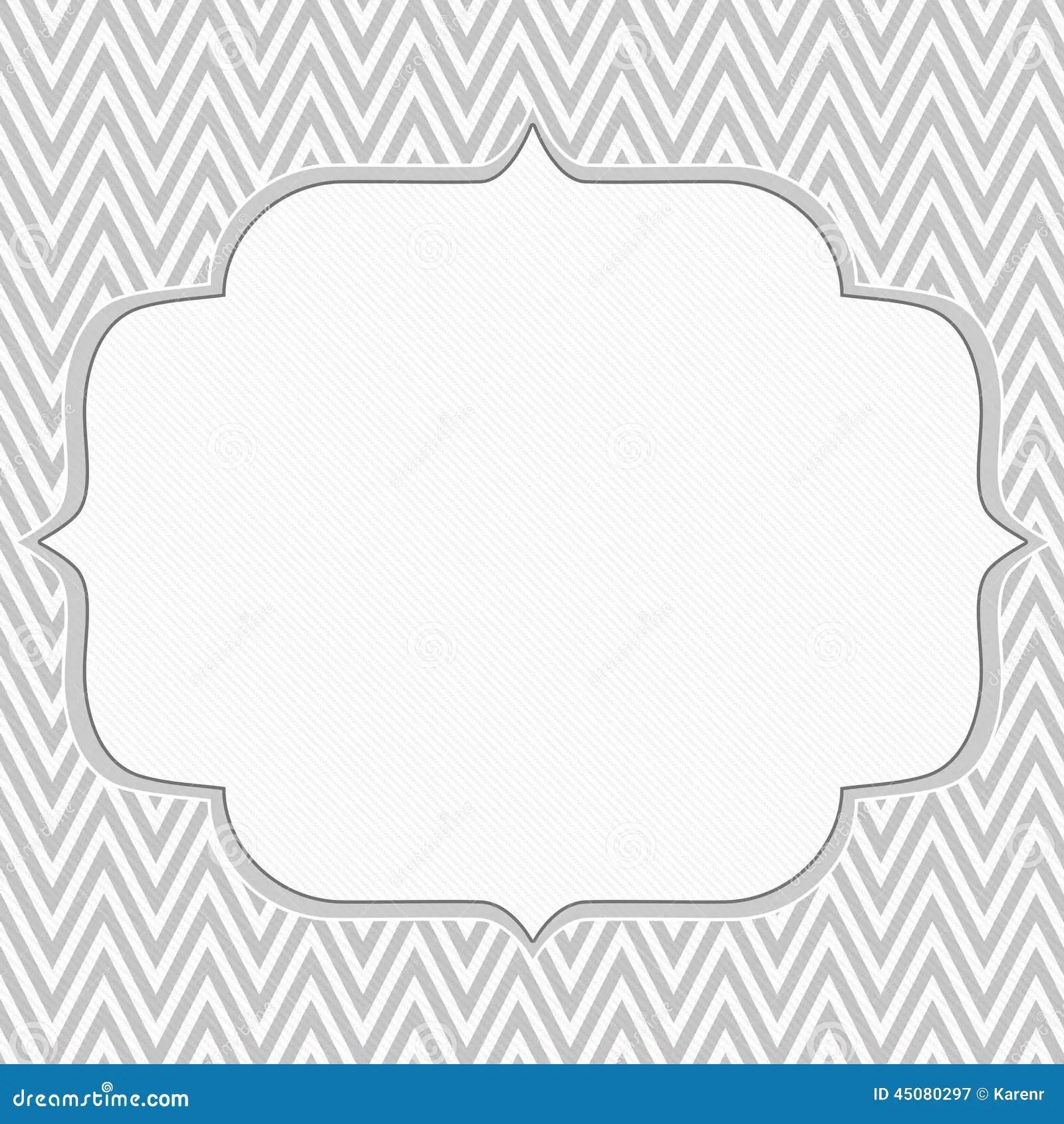 Gray And White Chevron Zigzag Frame Background Stock Illustration