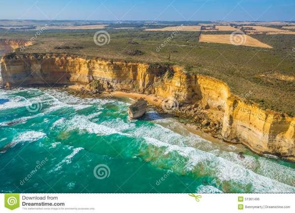 Aerial View Victorias Coast Stock Photo - Image: 51361496