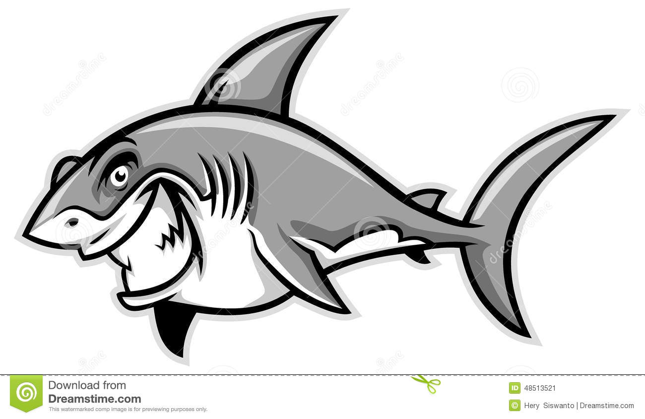 Great White Shark Smiling Stock Vector Illustration Of