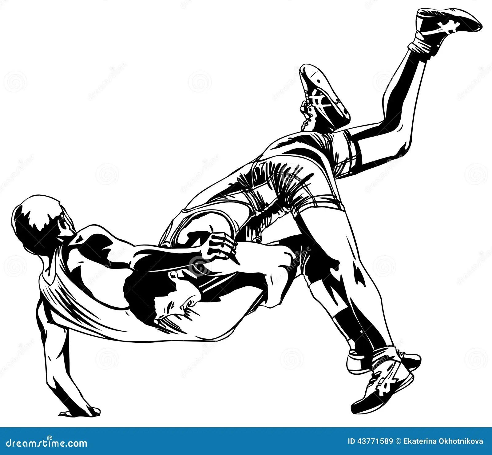 Greco Roman Wrestling Stock Vector Illustration Of