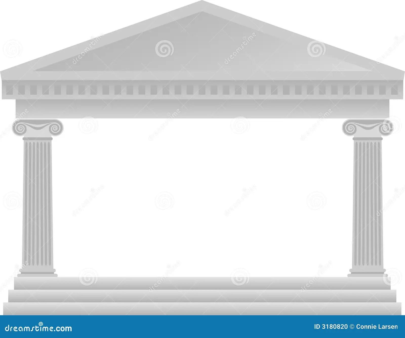 Greek Column Architecture Eps Stock Illustration
