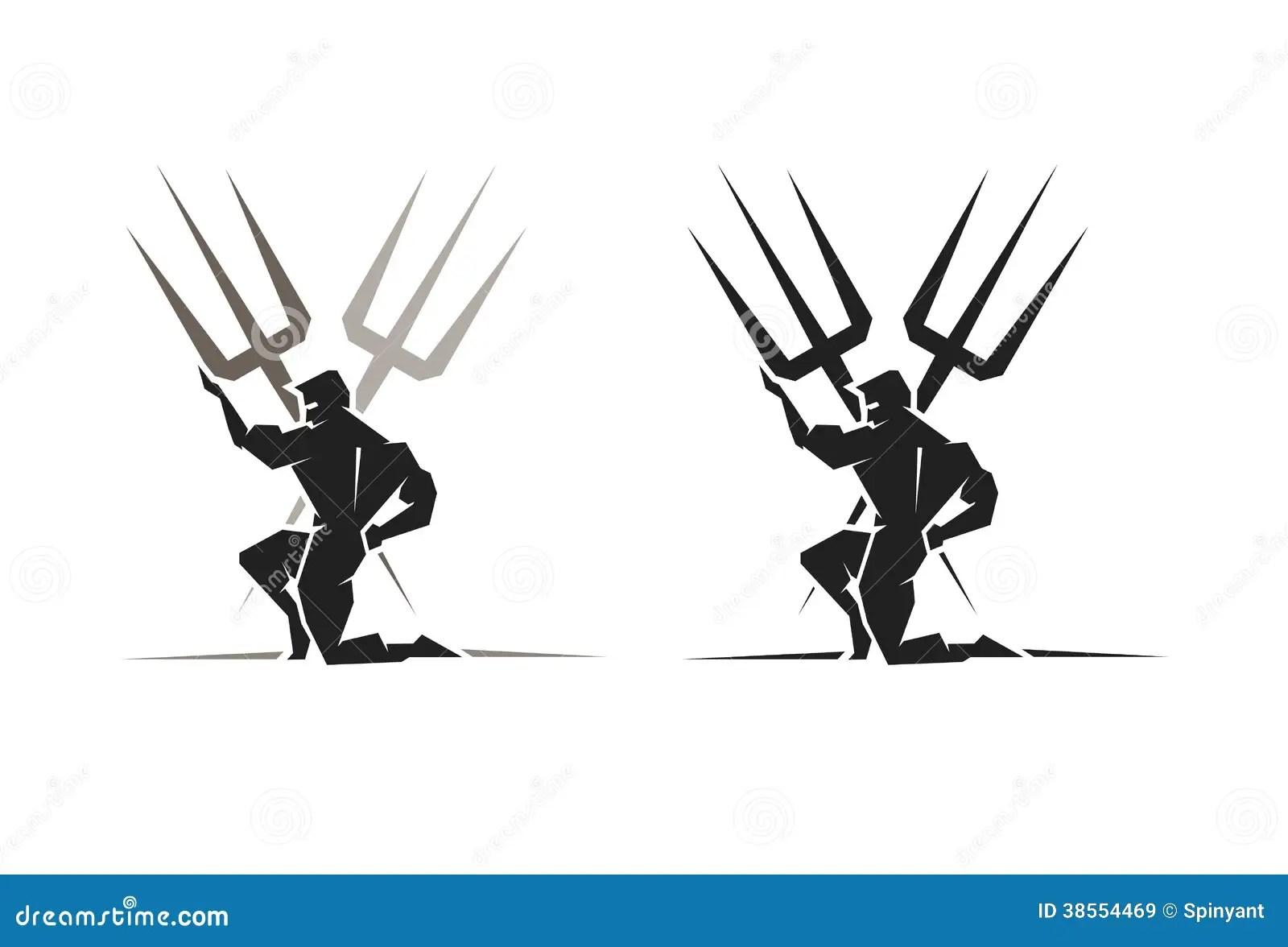 Greek God Poseidon Stock Vector Illustration Of Trident