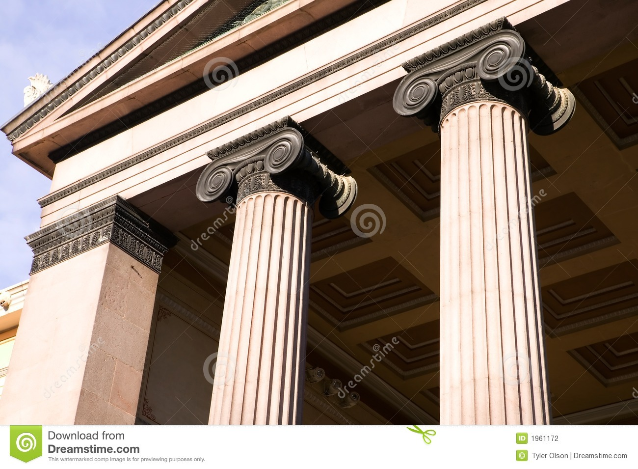 Greek Ionic Column Stock Photo Image Of Government