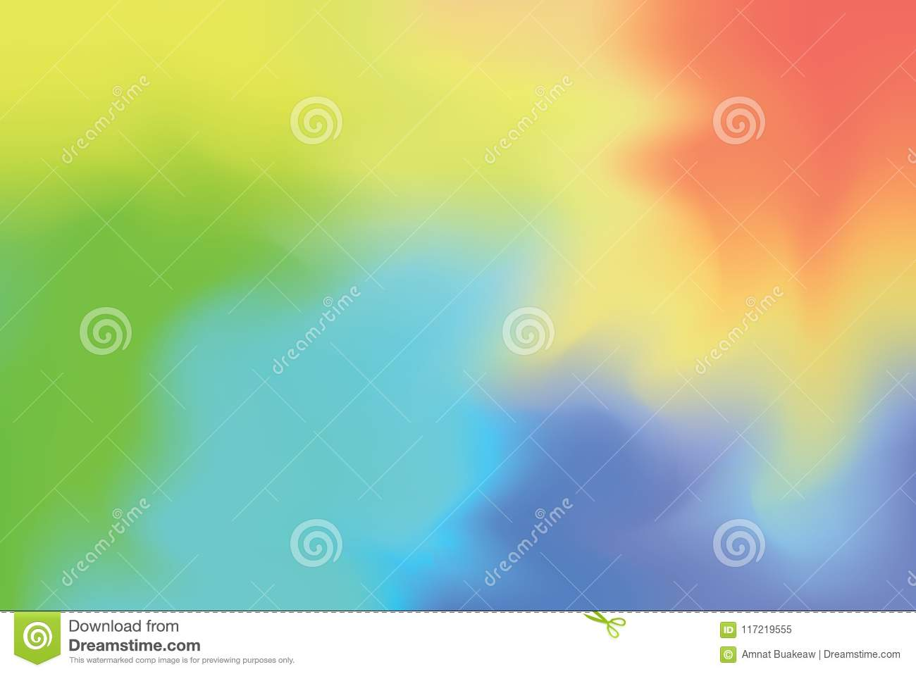 Orange Green Yellow Blue Soft Color Mixed Background