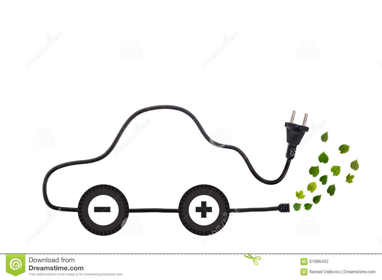 Green Energy Designed Electric Car Stock Photo