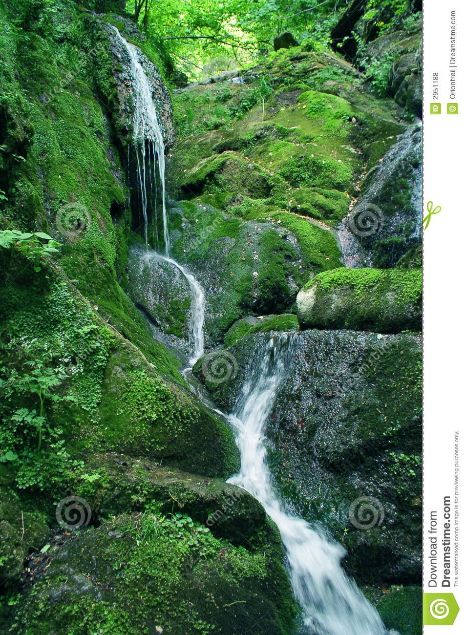 Green Hill Waterfall Royalty Free Stock Photos Image