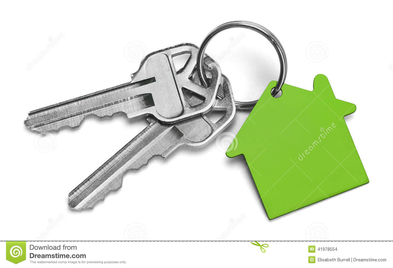 Green House Keys Stock Photo Image Of Isolated Group