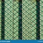 Green Wooden Fence Stretched Wire Mesh Pattern Stock Photo Image Of Light Abstract 159806836