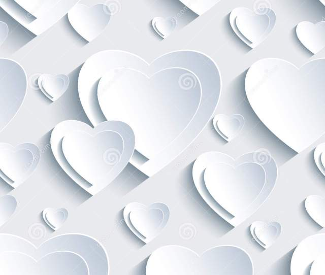 Grey Seamless Pattern With D Hearts For Day Valentine