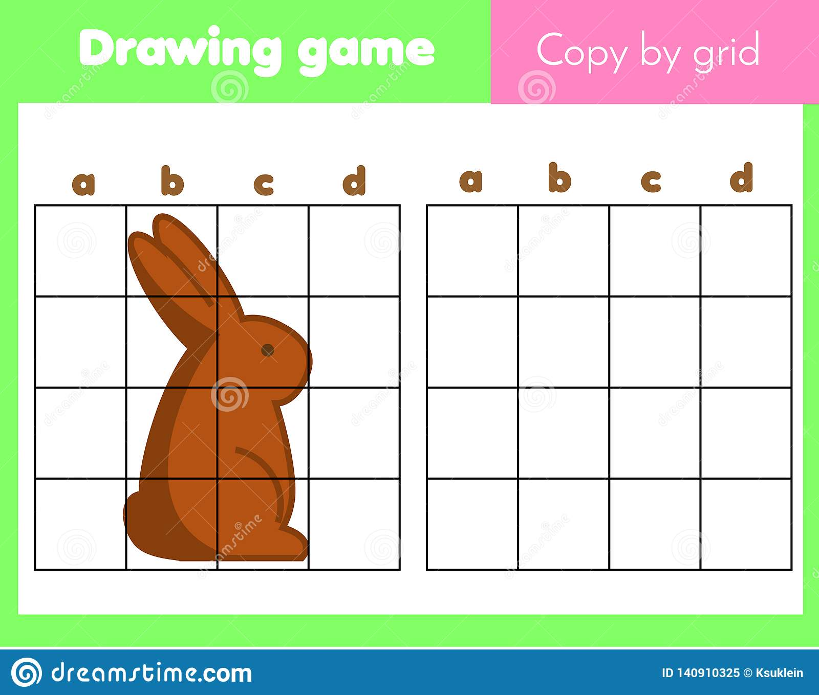 Grid Copy Worksheet Educational Children Game Printable