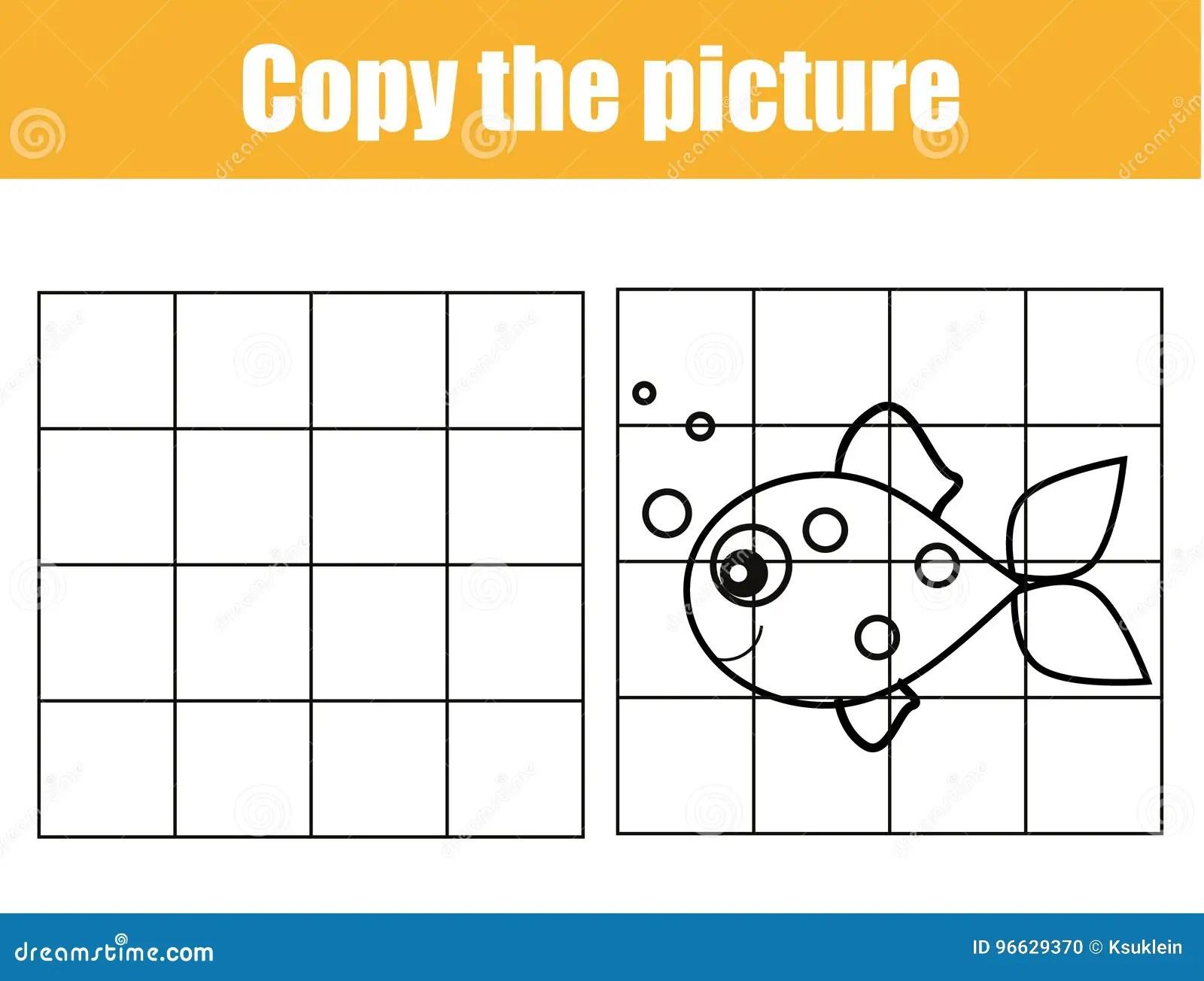 Animal Grid Drawing Worksheet