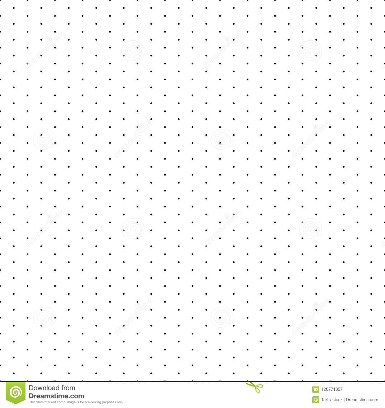 Grid With Dots Paper Seamless Pattern Isometric Floor