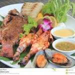 Grilled Seafood Platter Stock Photo Image Of Green Fresh 69391732