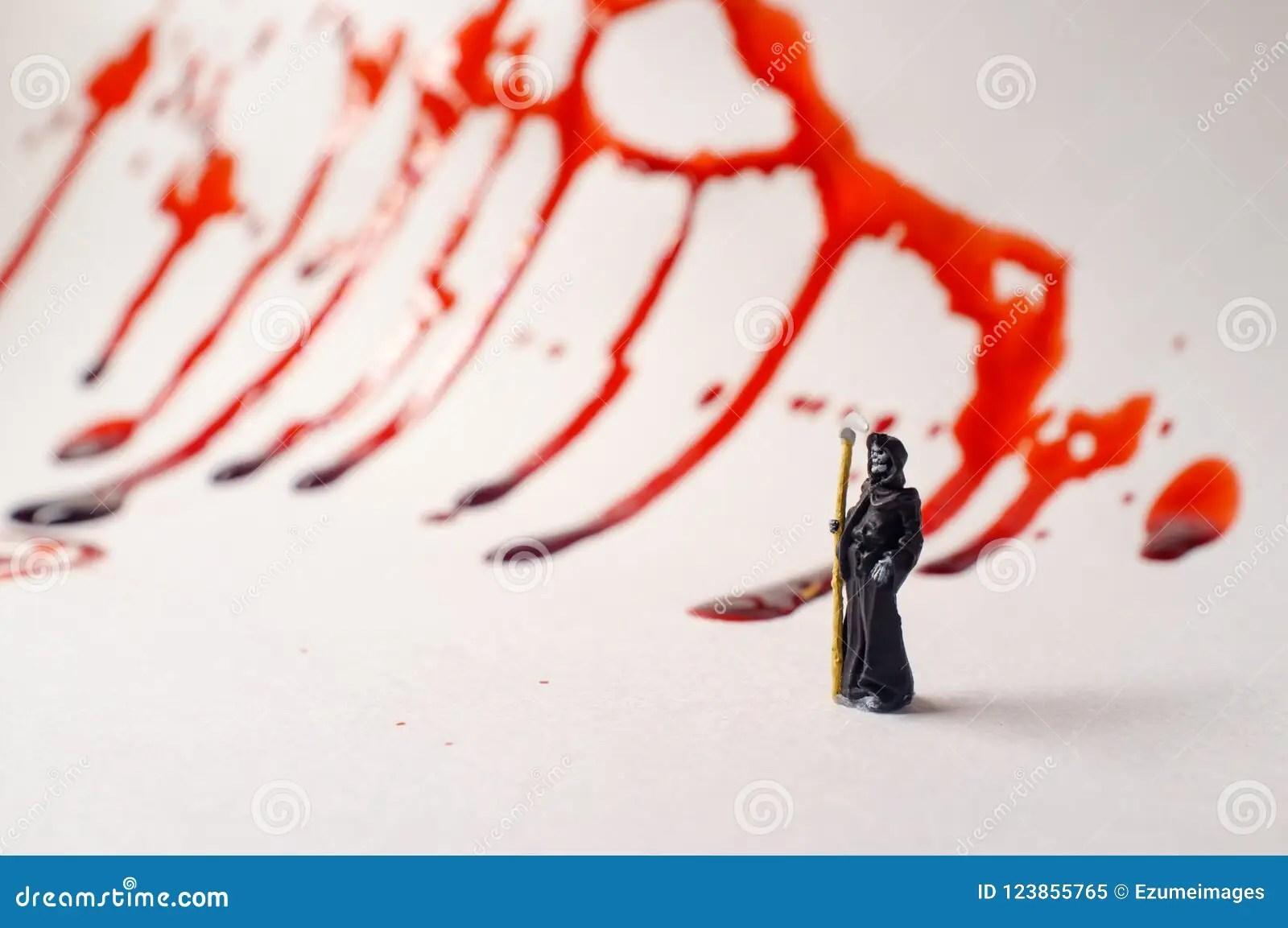 Grim Reaper Blood Splatter Stock Image Image Of Demon