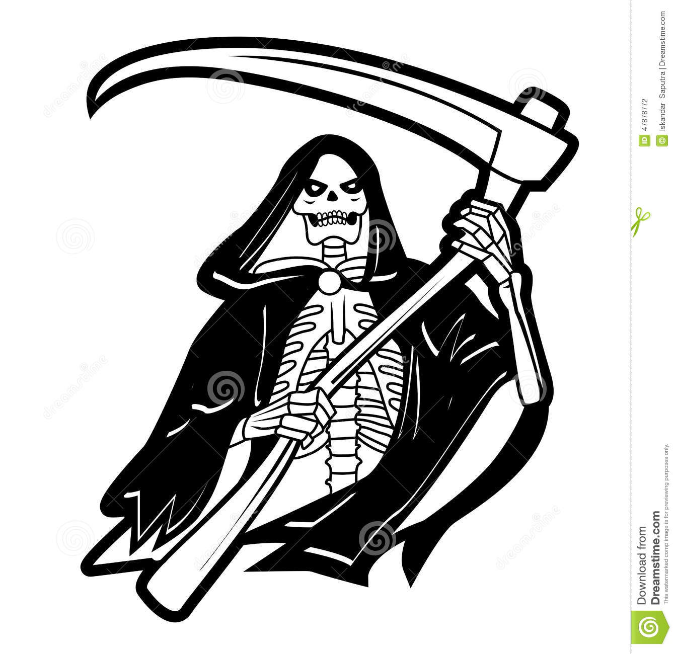 Grim Reaper Stock Vector Illustration Of Clip Gothic