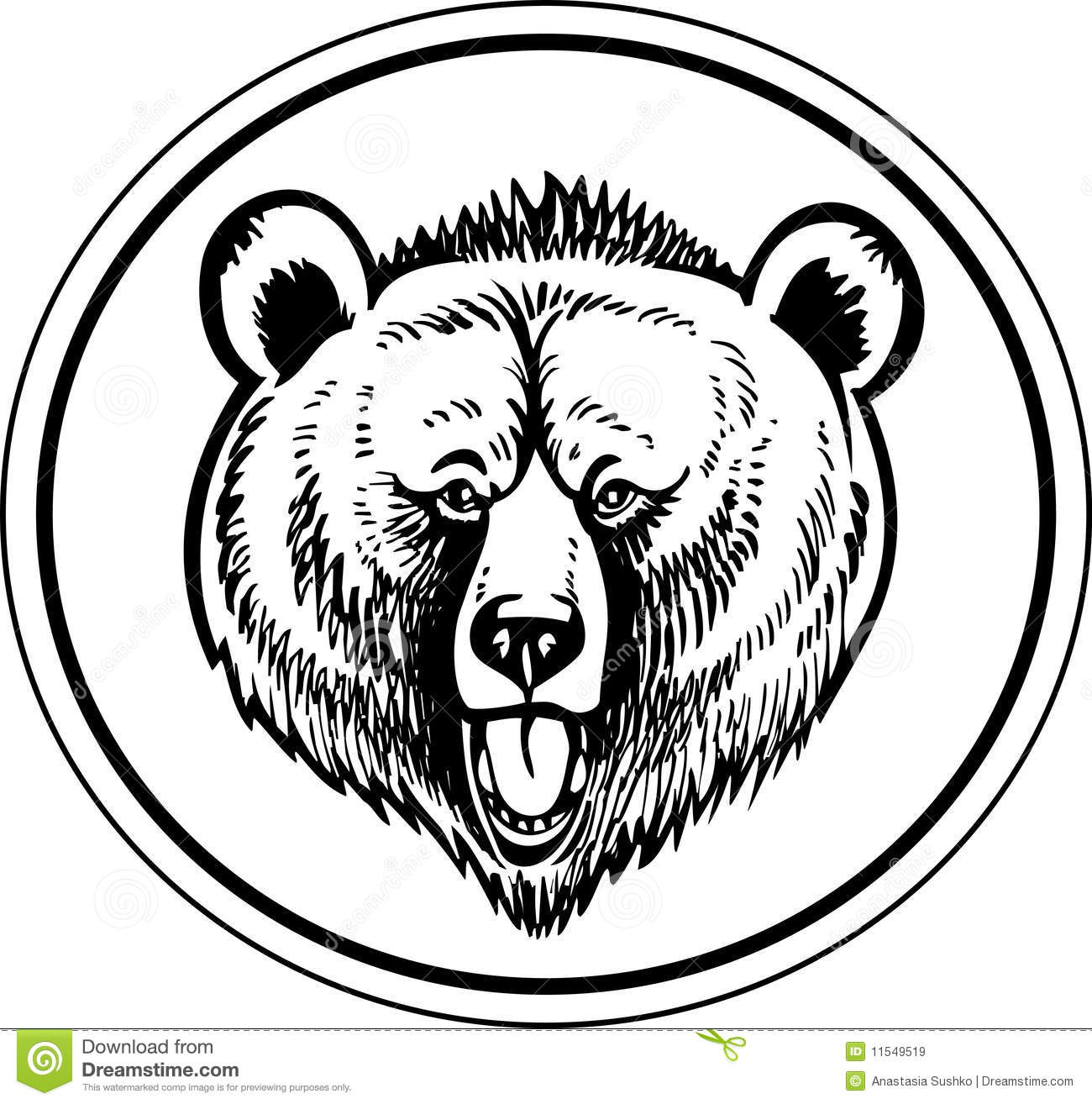 Grizzly Brown Bear Vector Stock Vector Illustration Of