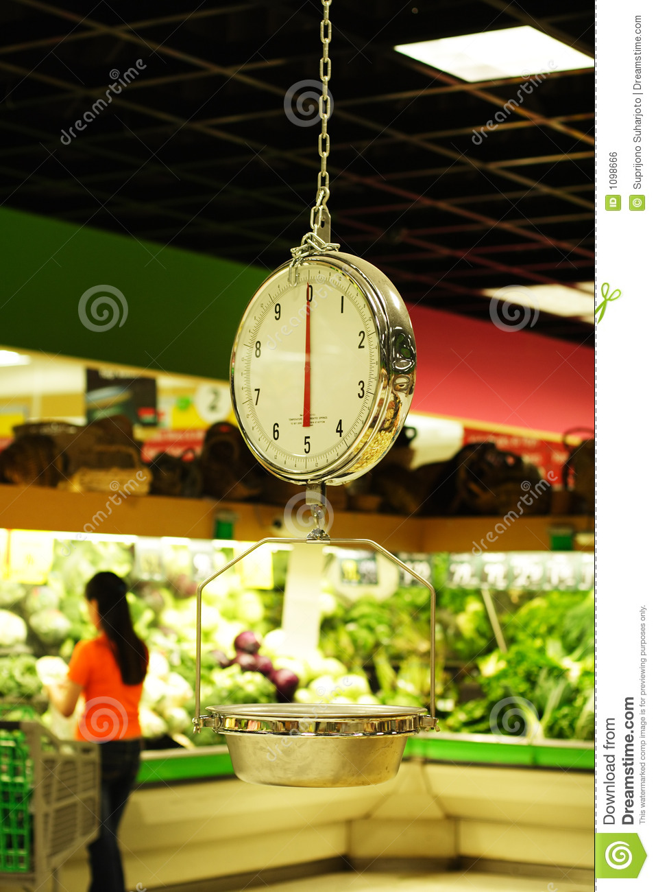 Grocery Weight Scale Stock Photo Image Of Weigh Market