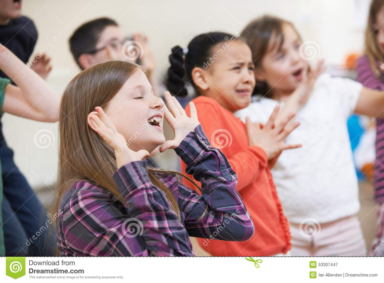 On september 13, 2021 at 11:45 am. Group Of Children Enjoying Drama Class Together Stock Image Image Of Child Creativity 53307447