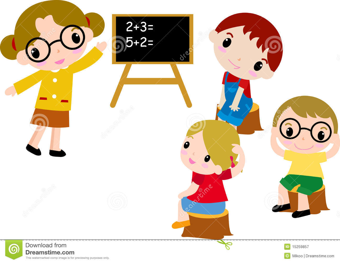 A Group Of School Kids Of Math Royalty Free Stock