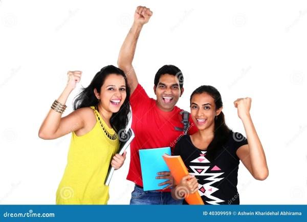Group Of Students Celebrating Success Stock Image - Image ...