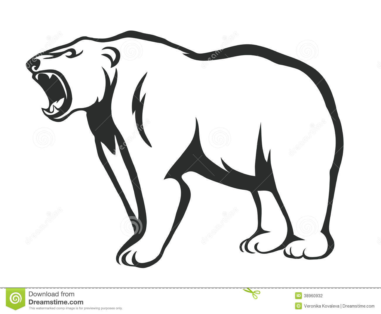 Growling Bear Stock Vector Illustration Of Bear Pets