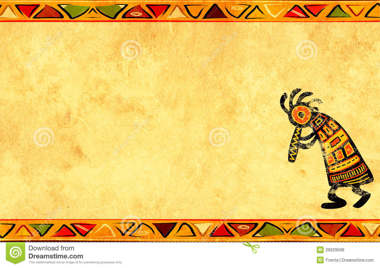 Grunge Background With African Patterns Royalty Free Stock