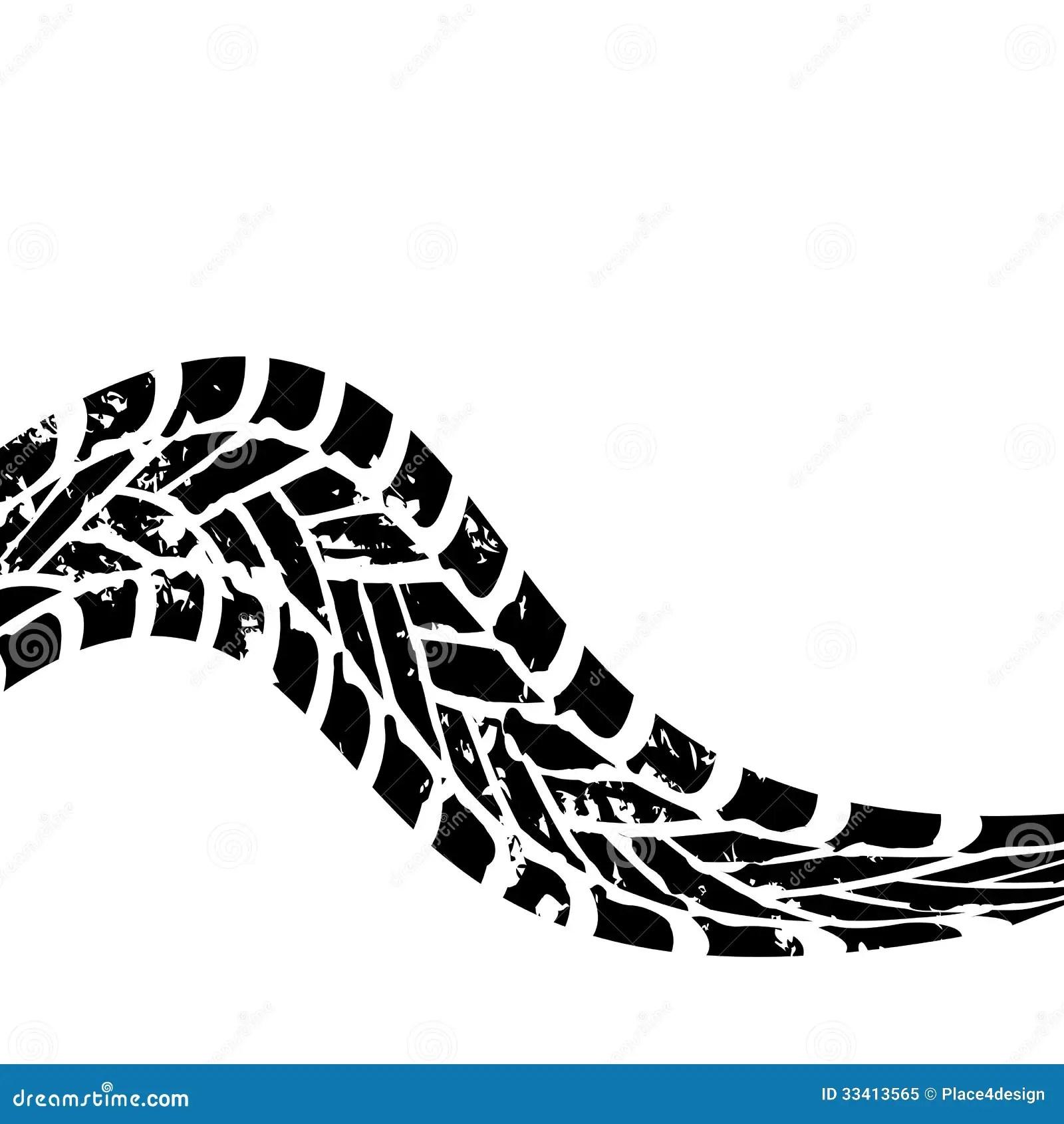 Grunge Black Tire Track Stock Vector Illustration Of