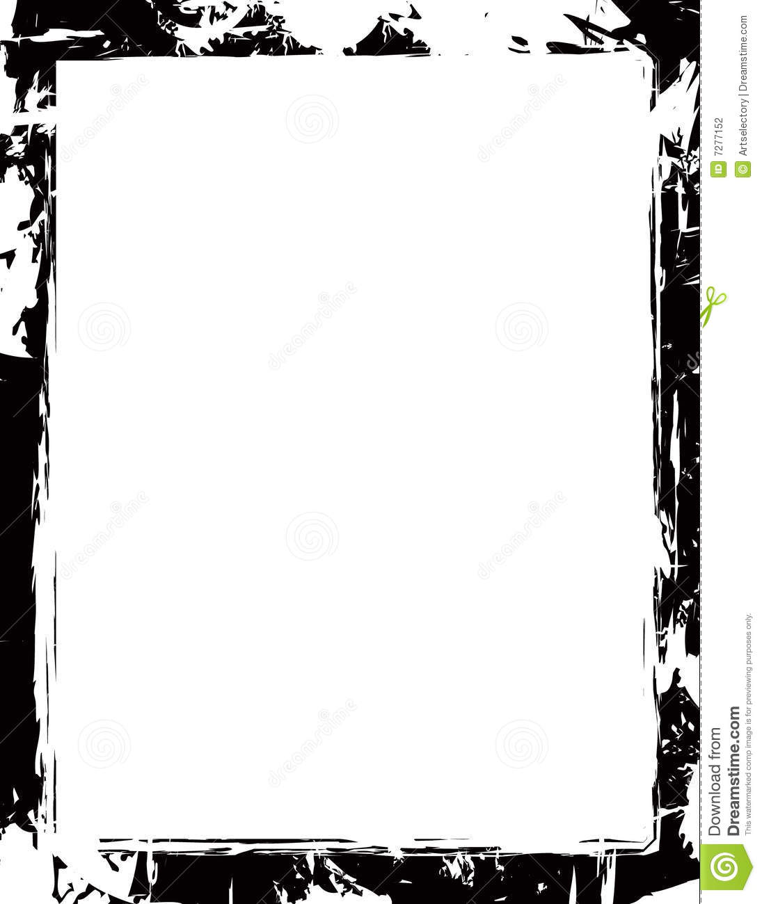 Grunge Border Stock Vector Image Of Grunge Letter