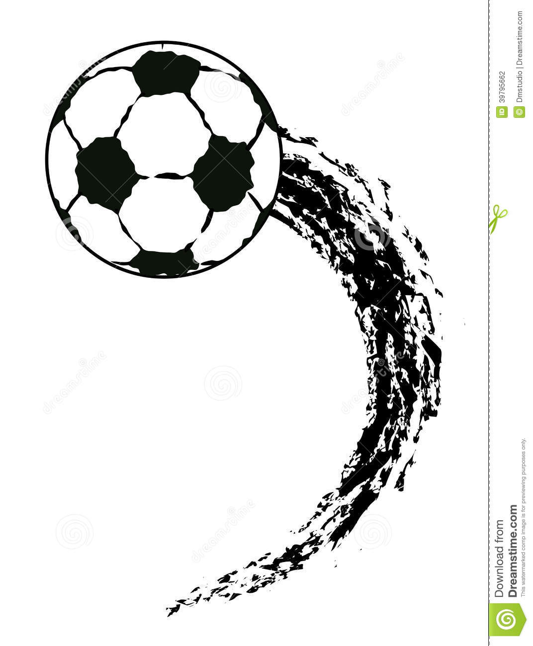 Vector Grunge Flying Soccer Ball Stock Vector