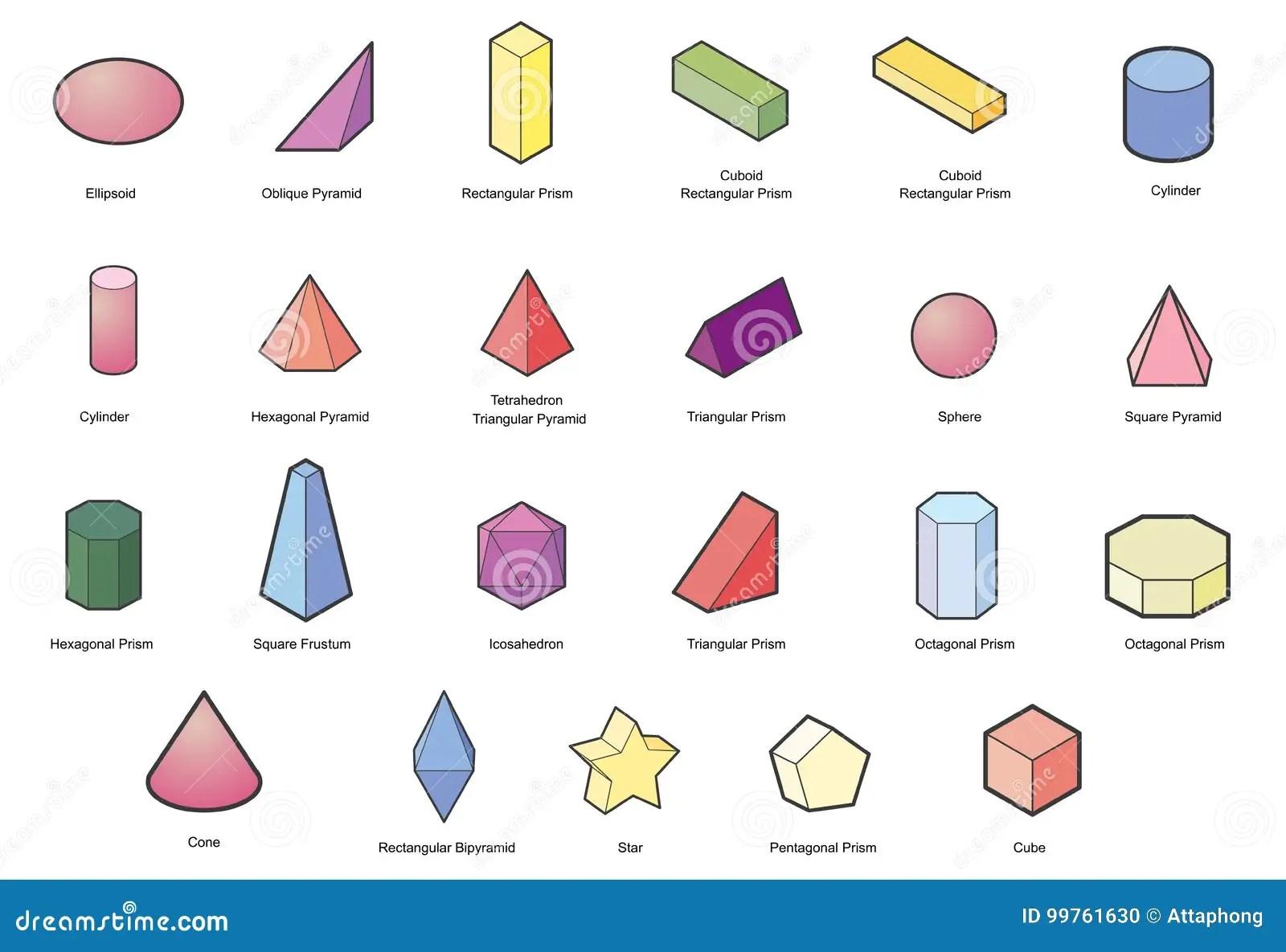 Grupo De Formas Geometricas Basicas Vetor Geometrico Dos