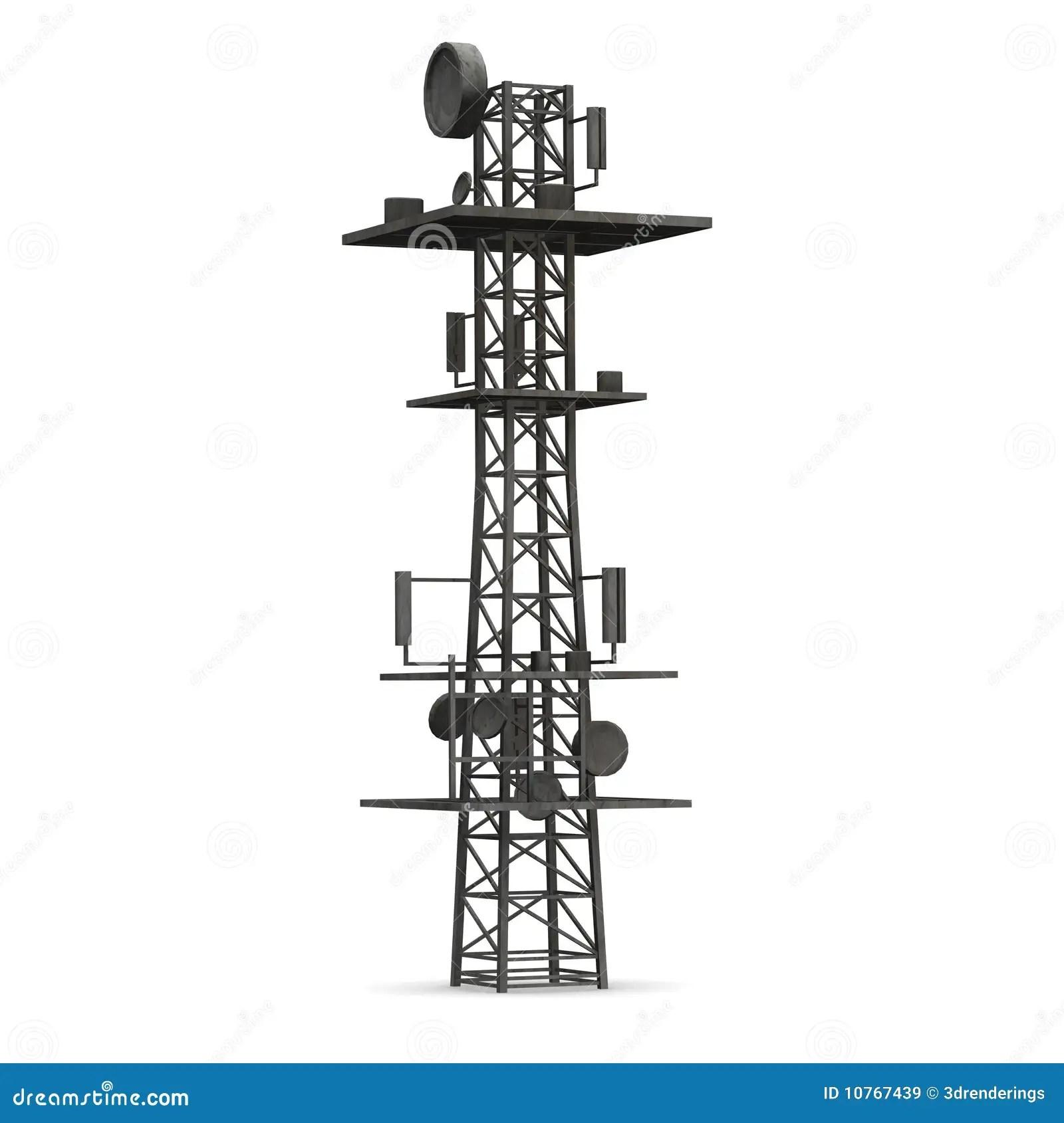 Gsm Toren Stock Illustratie Illustratie Bestaande Uit