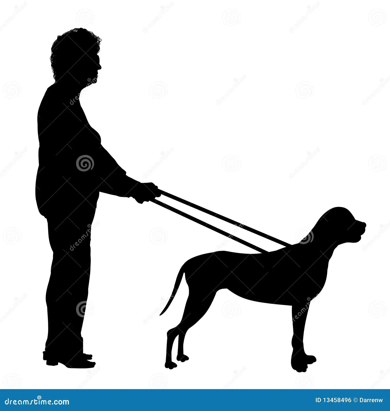 Guide Dog Stock Illustration Illustration Of Lead Black