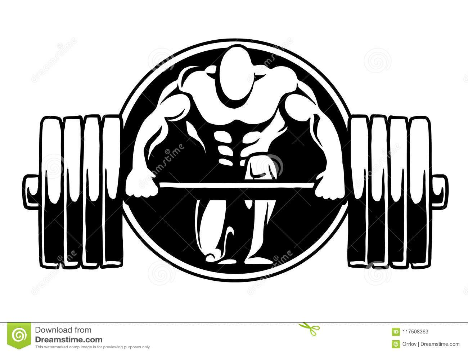 Gymnase De Forme Physique De Logo De Bodybuilding Illustration Stock