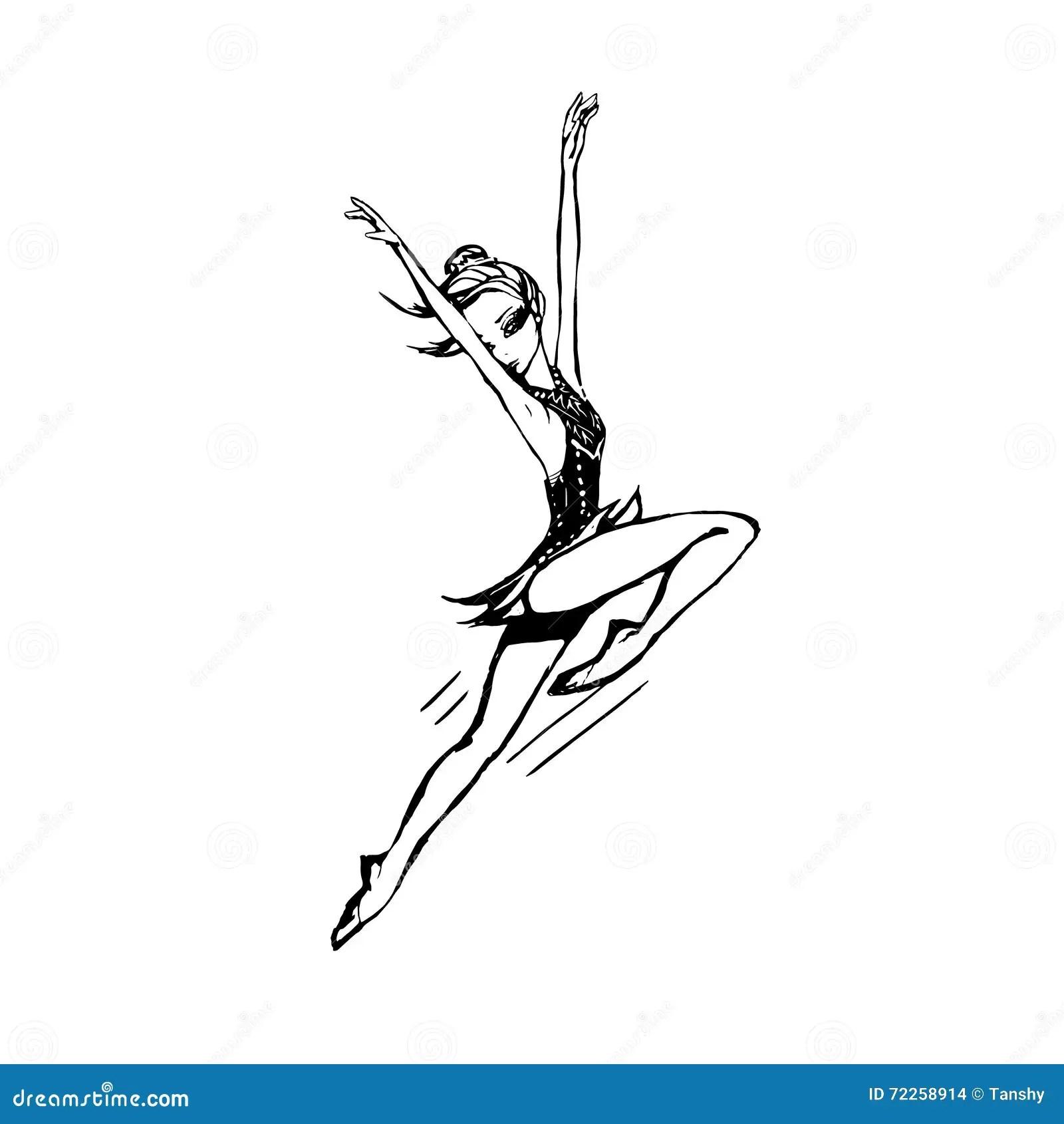 Silhouette Gymnast Girls Cartoon Vector