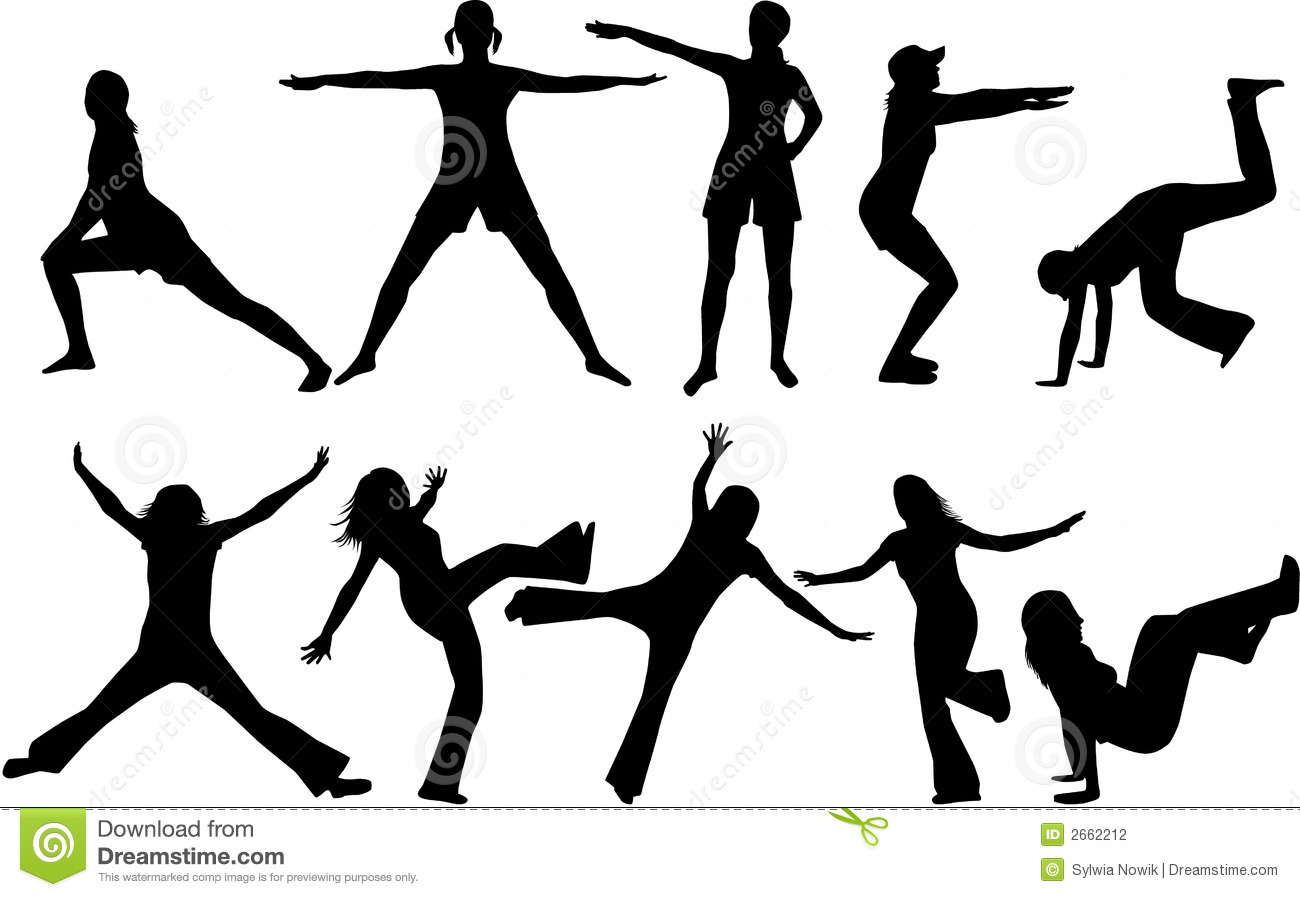 Gymnastics Silhouettes Stock Vector Illustration Of Hurry