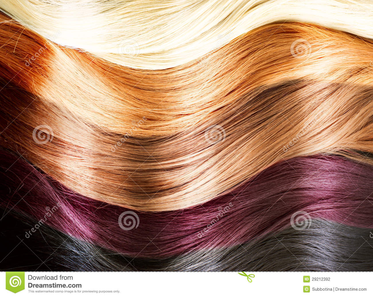 Hair Colors Palette Stock Photography Image 29212392