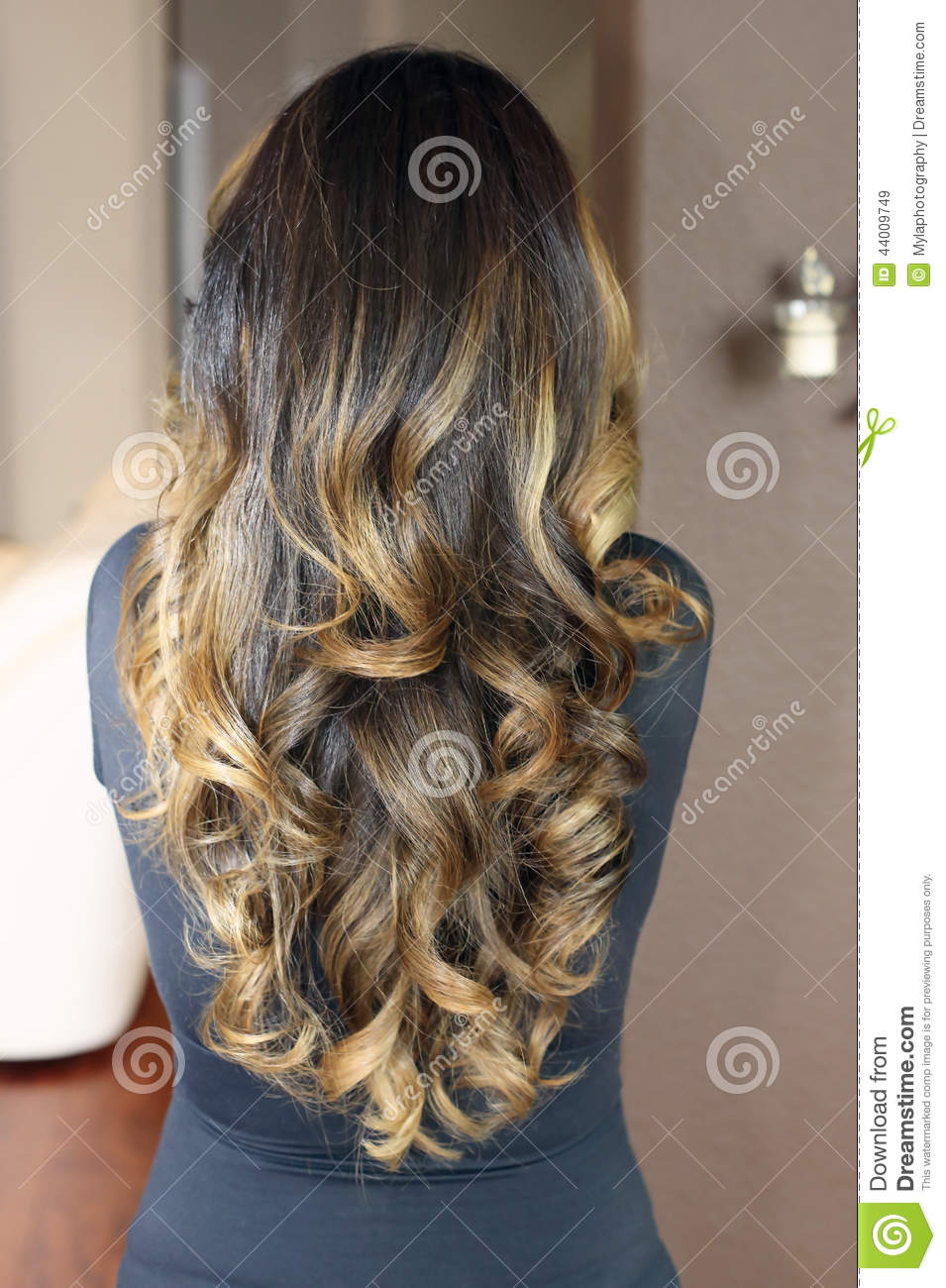 Hair Model Stock Image Image Of Brown Salon Curly