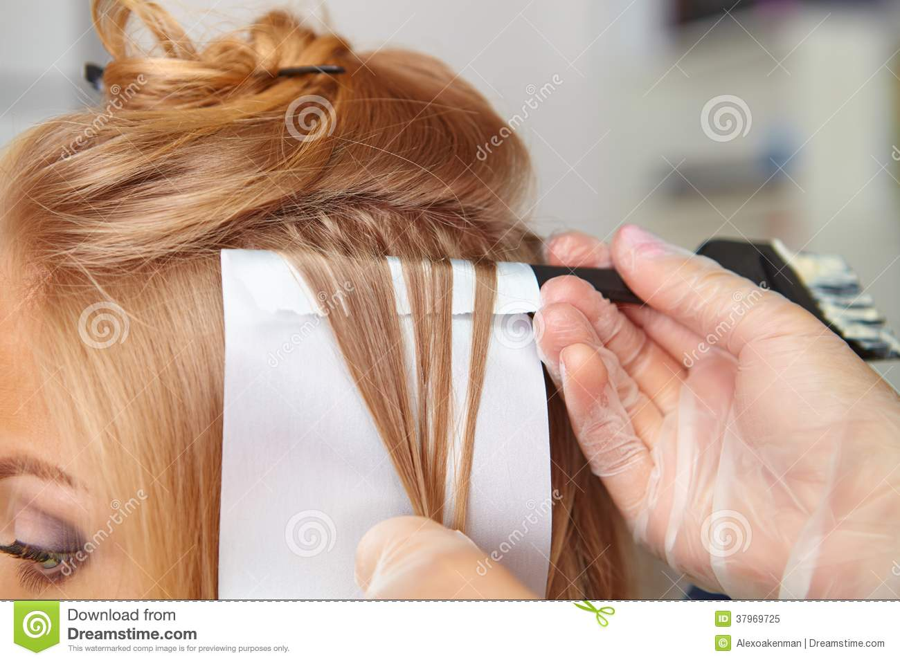 Hair Salon Coloring Royalty Free Stock Photo