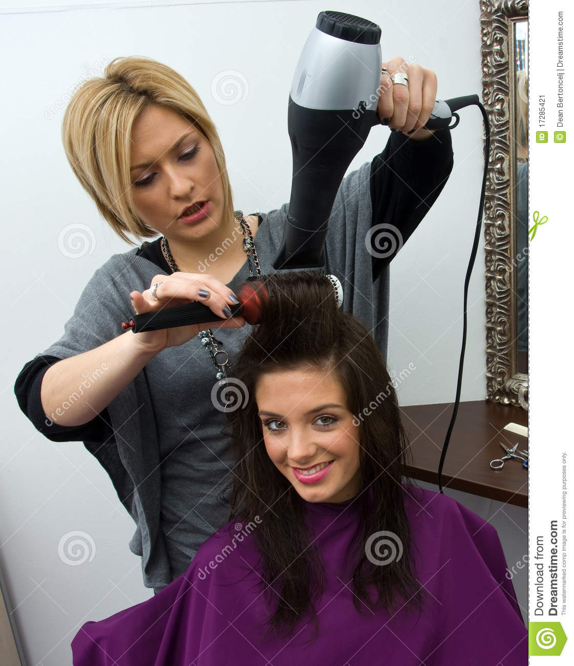 Hair Stylist At Work Stock Image Image 17285421